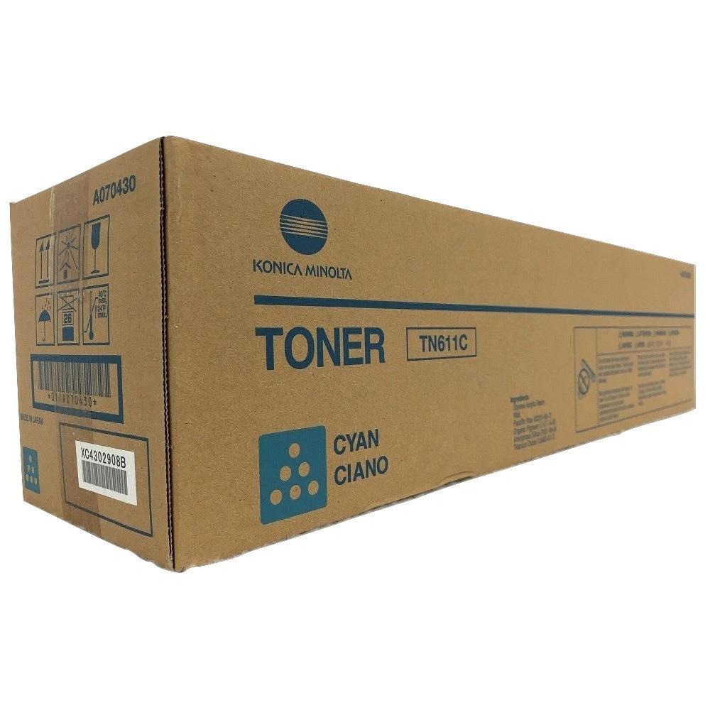 Konica-Minolta A070430 TN611C Original Cyan Toner Cartridge