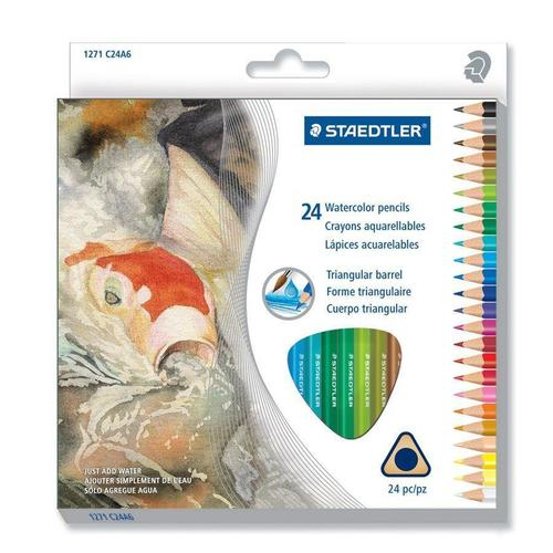 Staedtler® Box of 24 Watercolor Colored Pencils Set - 2 ...