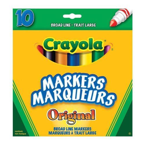 Crayola 174 Original Broad Line Colors Markers 10 Colours