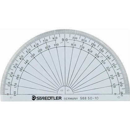 Staedtler 174 Angle Measuring Tool Protractor 180