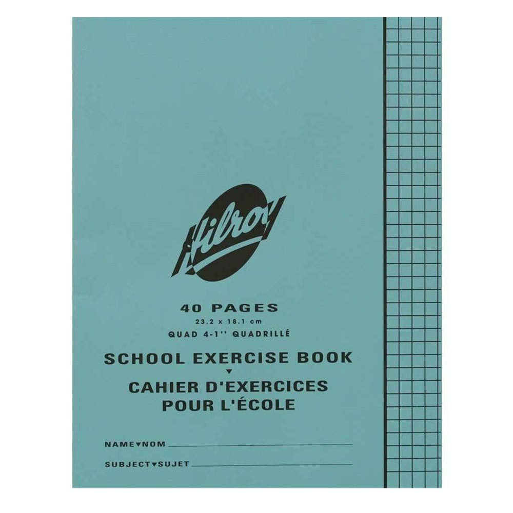 Hilroy 40 Pages Quadruled Blue Cover Exercise Notebook (11994)
