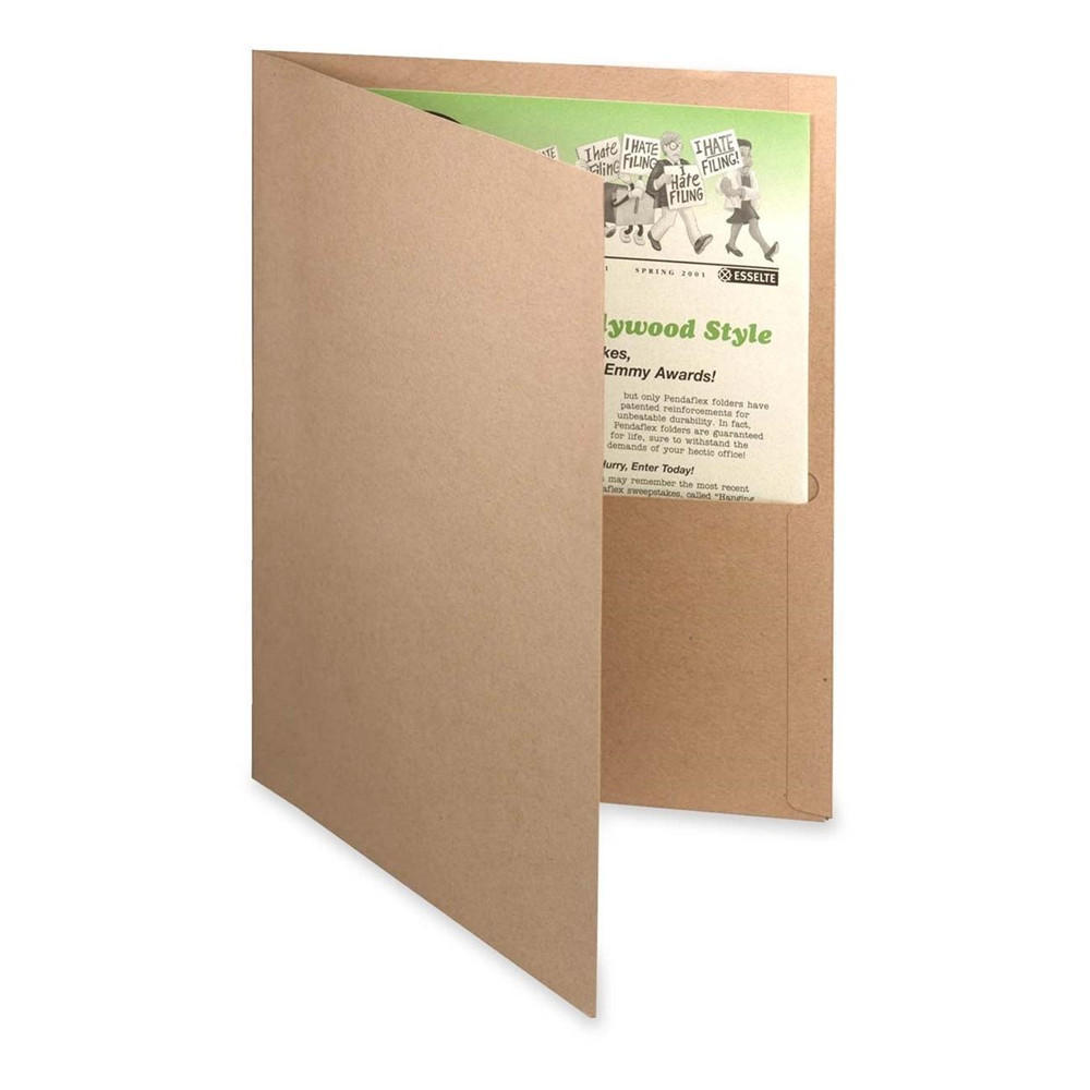 Oxford Earthwise 100% Recycled Twin Pocket Folders, 10 covers per pack