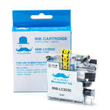 Brother LC203C Compatible Cyan Ink Cartridge High Yield - Moustache®