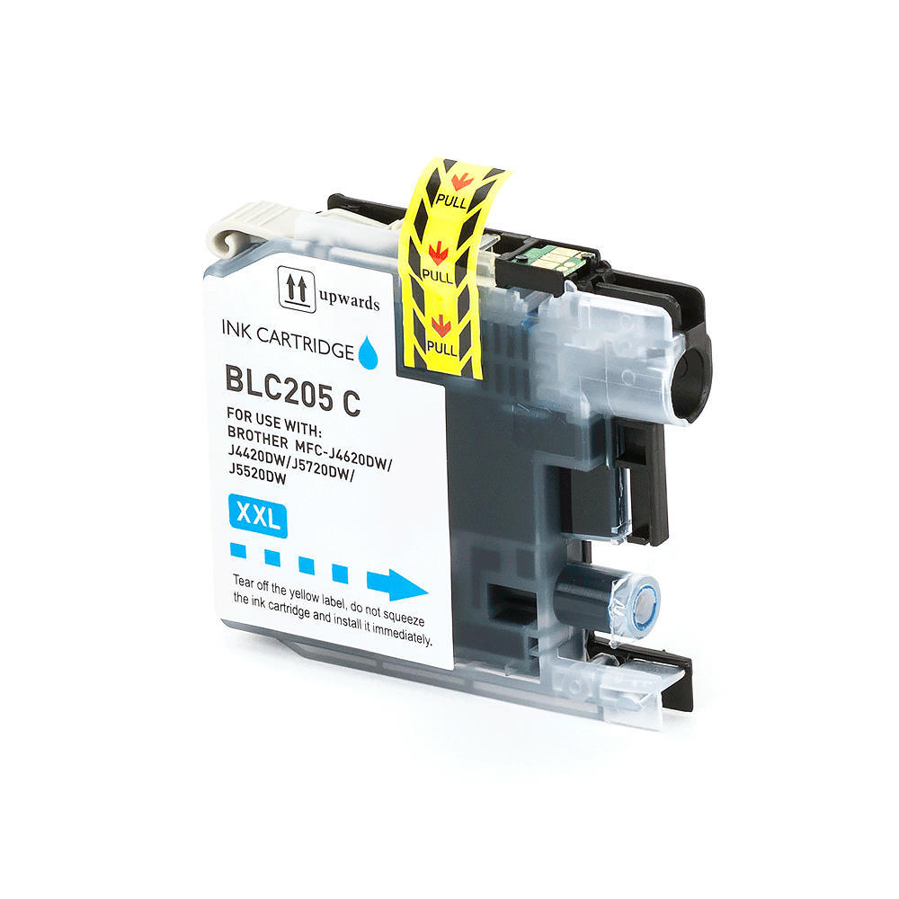 Brother LC205C Compatible Cyan Ink Cartridge Extra High Yield