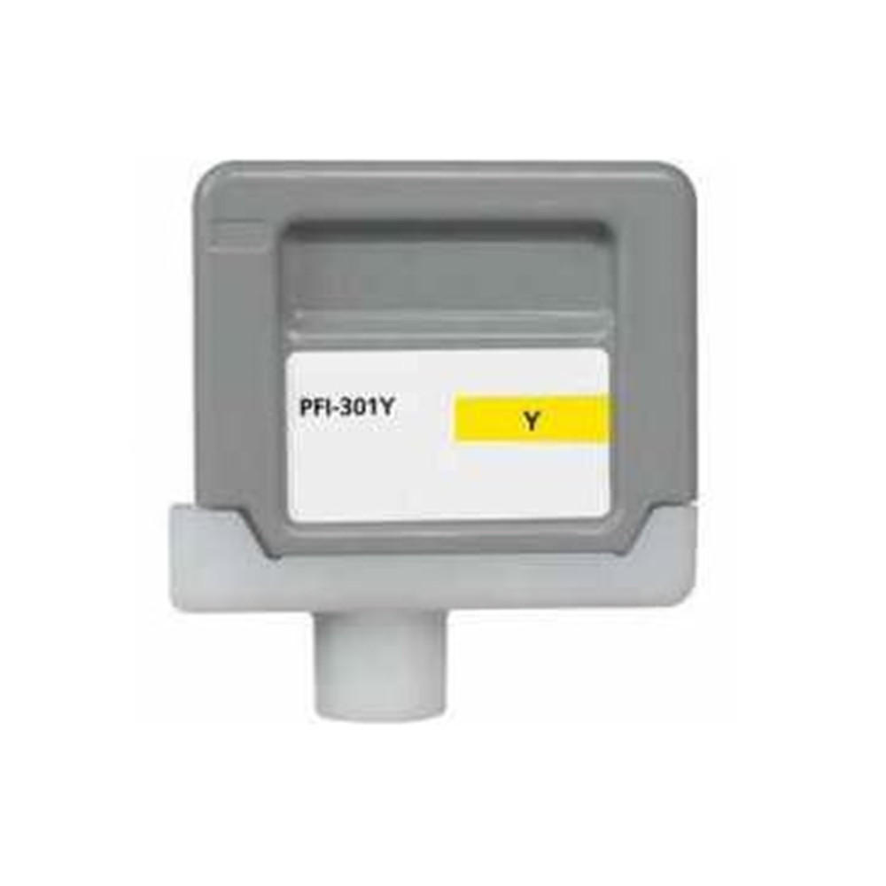 Canon PFI-301Y 1489B001AA Compatible Pigment Yellow Ink Cartridge