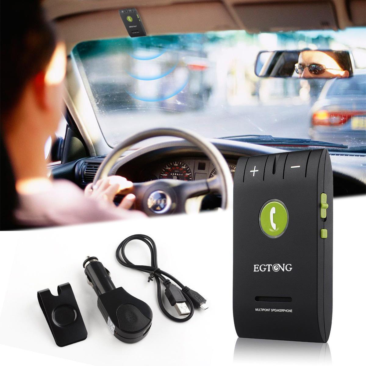 Wireless Bluetooth Hands-free Car Kit / Multipoint Speakerphone Car Kit GZA-00307