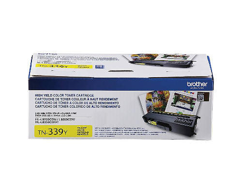 Brother TN339Y Original Yellow Toner Cartridge Extra High Yield