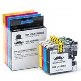 Brother LC203 Compatible Ink Cartridge Combo High Yield BK/C/M/Y - Moustache®