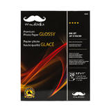 "Moustache® 20 Sheets Premium Photo Paper, Glossy, 8.5"" x 11"" (H250)"