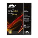 "Professional Satin Photo Paper,8.5"" x 11"", 20 Sheets (PHW260) - Moustache®"