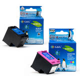 Remanufactured HP 901XL Black and HP 901 Color CC654AN And CC656AN Ink cartridge Combo - G&G™