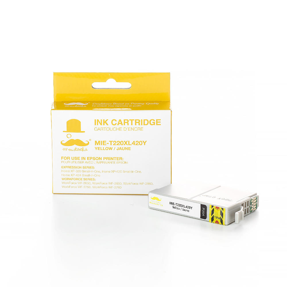 Epson 220 T220XL420 Compatible Yellow Ink Cartridge High Yield - Moustache®