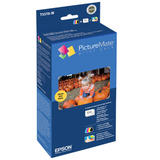 Epson T5570-M Original Ink and Paper Print Pack for PictureMate Printers
