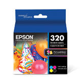 Epson T320 Original Ink Cartridge Combo BK/C/M/Y for PictureMate 400 Series