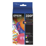 "Epson T320P Original Ink Cartridge Combo BK/C/M/Y with 100 sheets 4"" x 6"" Photo Paper"