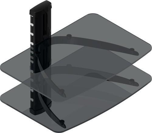 TygerClaw Double Layer DVD Stand with Black Color Glass (LCD8217BLK)
