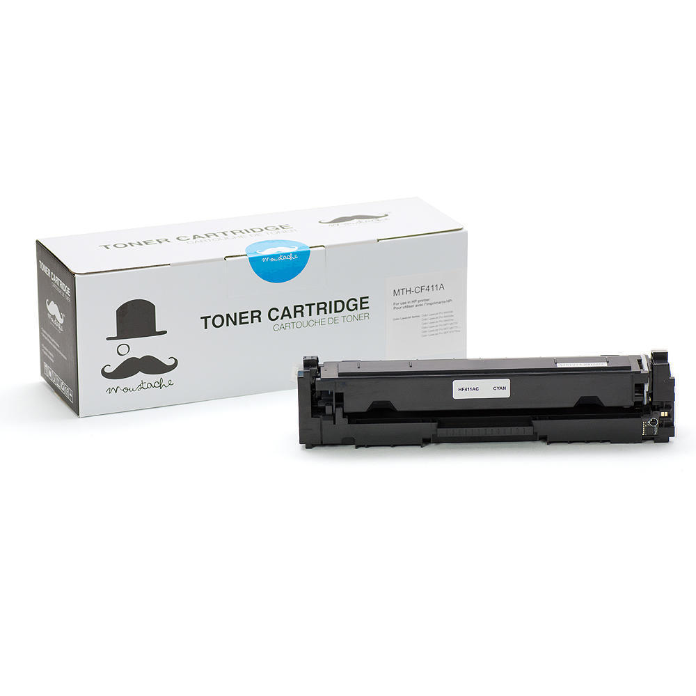 Compatible HP 410A CF411A Cyan Toner Cartridge - Moustache®