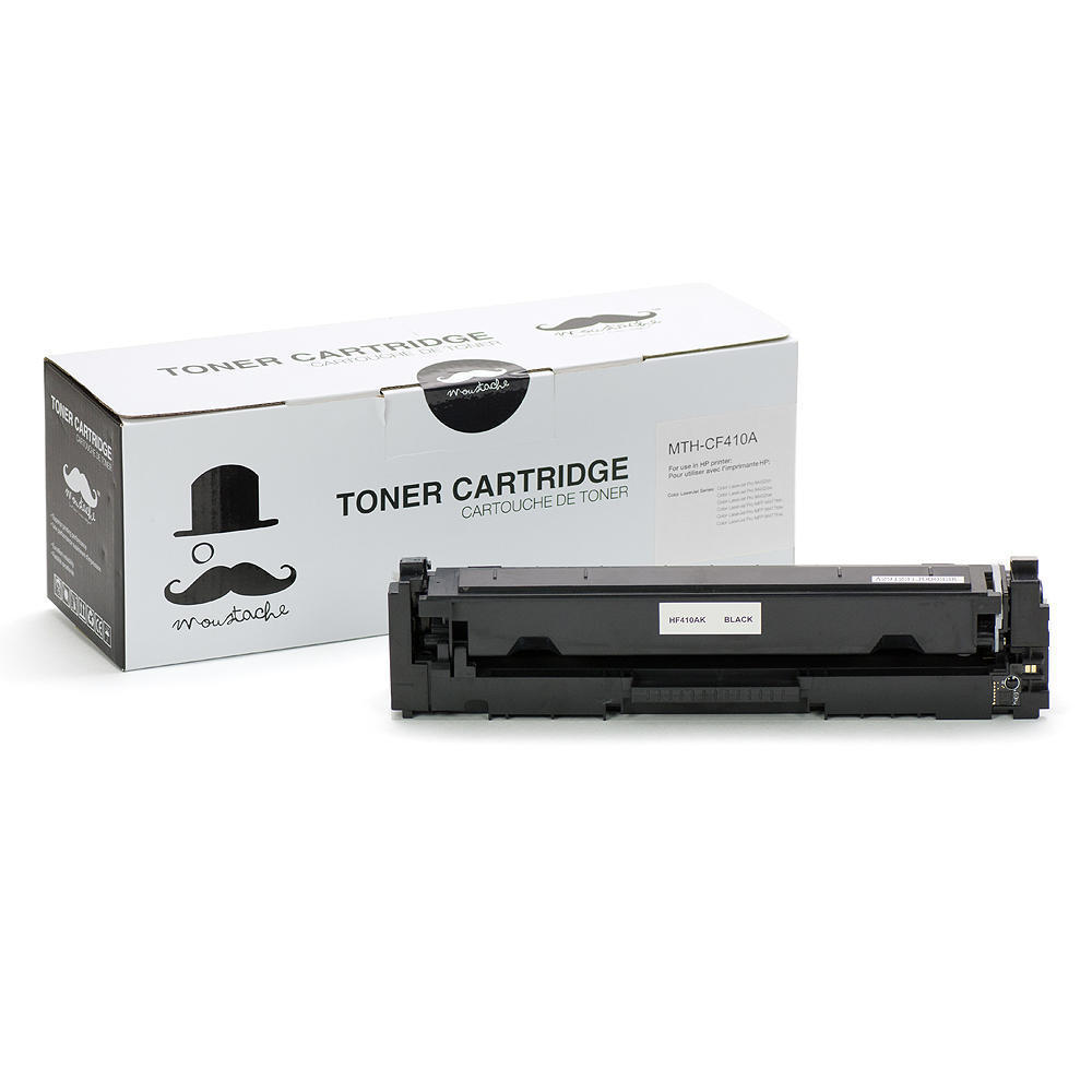 Compatible HP 410A CF410A Black Toner Cartridge - Moustache®