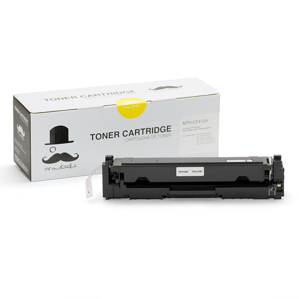 Compatible HP 410A CF412A Yellow Toner Cartridge - Moustache®