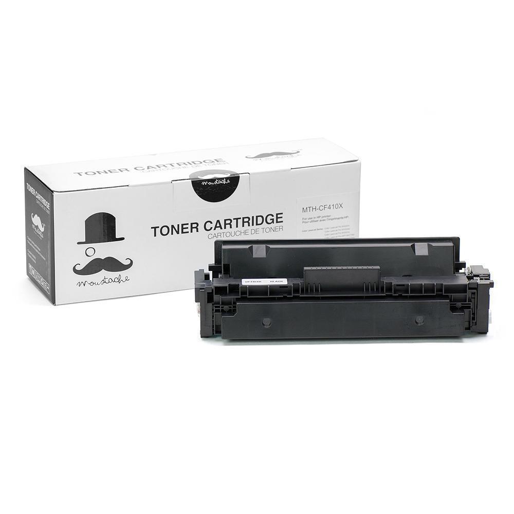 Compatible HP 410X CF410X Black Toner Cartridge High Yield - Moustache®