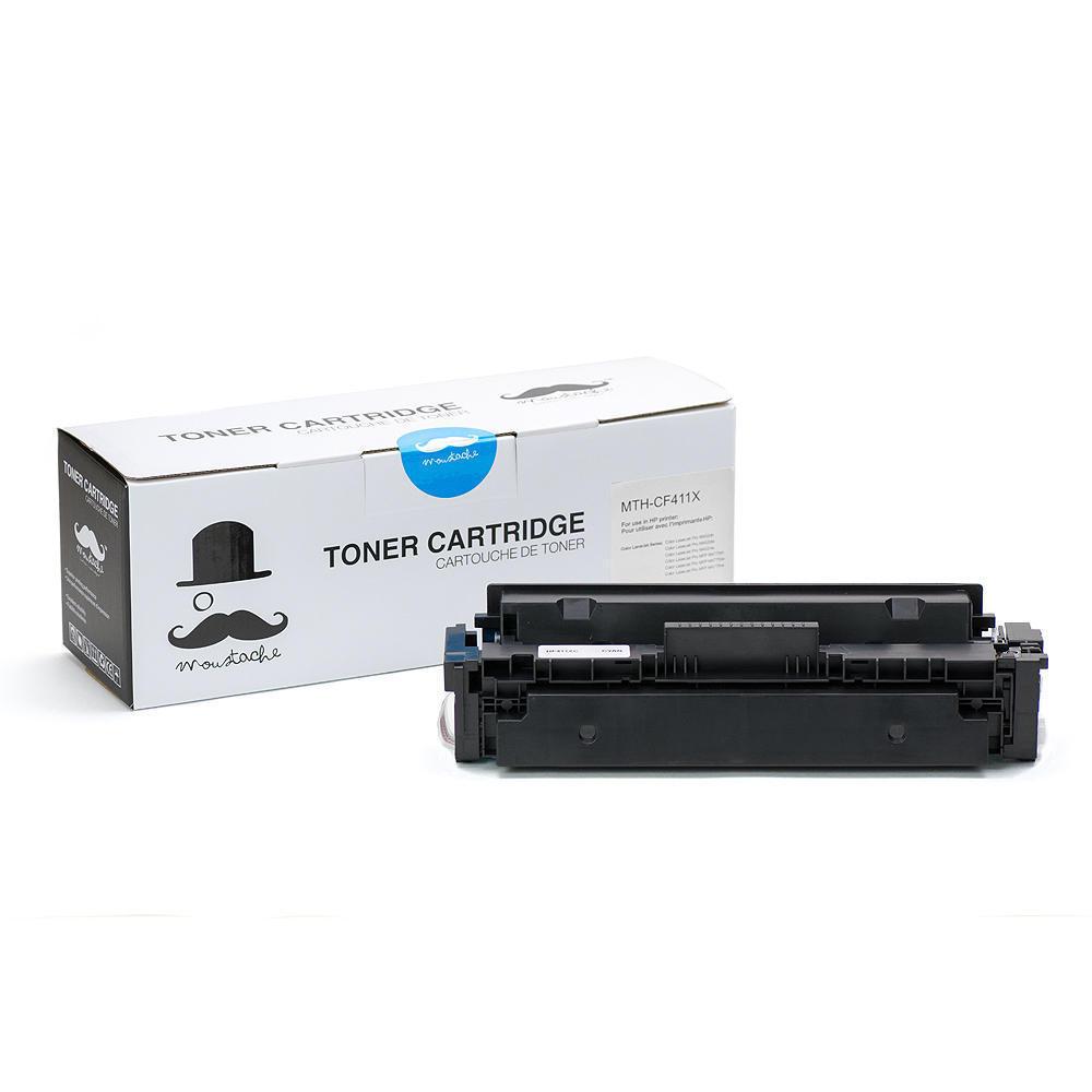 Compatible HP 410X CF411X Cyan Toner Cartridge High Yield - Moustache®