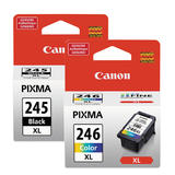 Canon PG245XL CL246XL Original Ink Cartridge Combo (8278B001AA 8280B001AA)