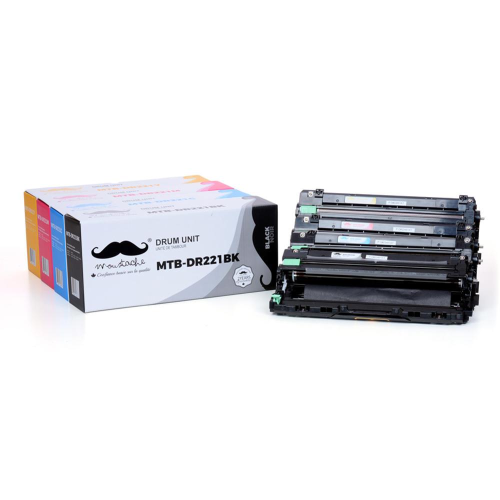 Brother DR221CL Compatible Drum Combo BK/C/M/Y - Moustache®