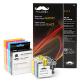 Brother LC103 Compatible Ink Cartridge Combo High Yield with Moustache® Premium Photo Paper