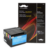 HP 932XL/933XL Remanufactured/Compatible Ink Cartridges with Moustache® Premium Photo Paper Glossy