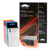 Remanufactured (Compatible) HP 564XL Ink Cartridge Combo with Moustache® Premium Photo Paper