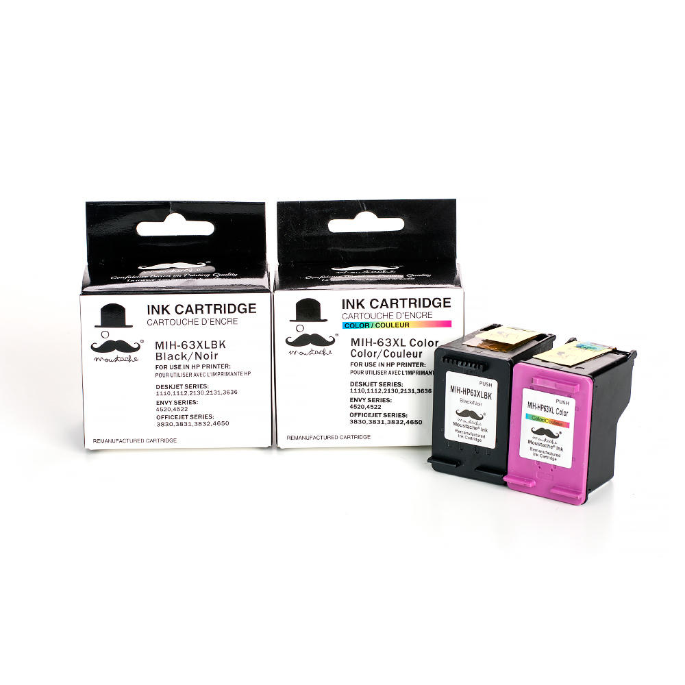 Remanufactured HP 63XL F6U64AN F6U63AN Ink Cartridge Black ...