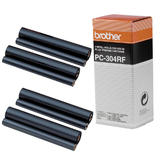 Brother PC-304RF Original Black Printer Thermal Fax Ribbon Rolls - 4/Pack