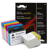 Epson 79 Compatible Ink Cartridges Combo with Premium Photo Paper Glossy - Moustache®