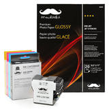 Brother LC61 Compatible Ink Cartridge Combo with Moustache® Photo Paper Glossy