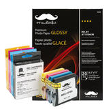 Brother LC51 Compatible Ink Cartridge Combo with Photo Paper Glossy - Moustache®
