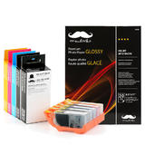 Canon PGI225 CLI226 Compatible Ink Cartridge Combo with Photo Paper Glossy - Moustache®