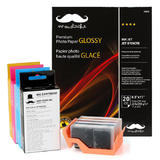 Remanufactured ( Compatible ) HP 564XL Ink Cartridge Combo with Moustache® Photo Paper Glossy