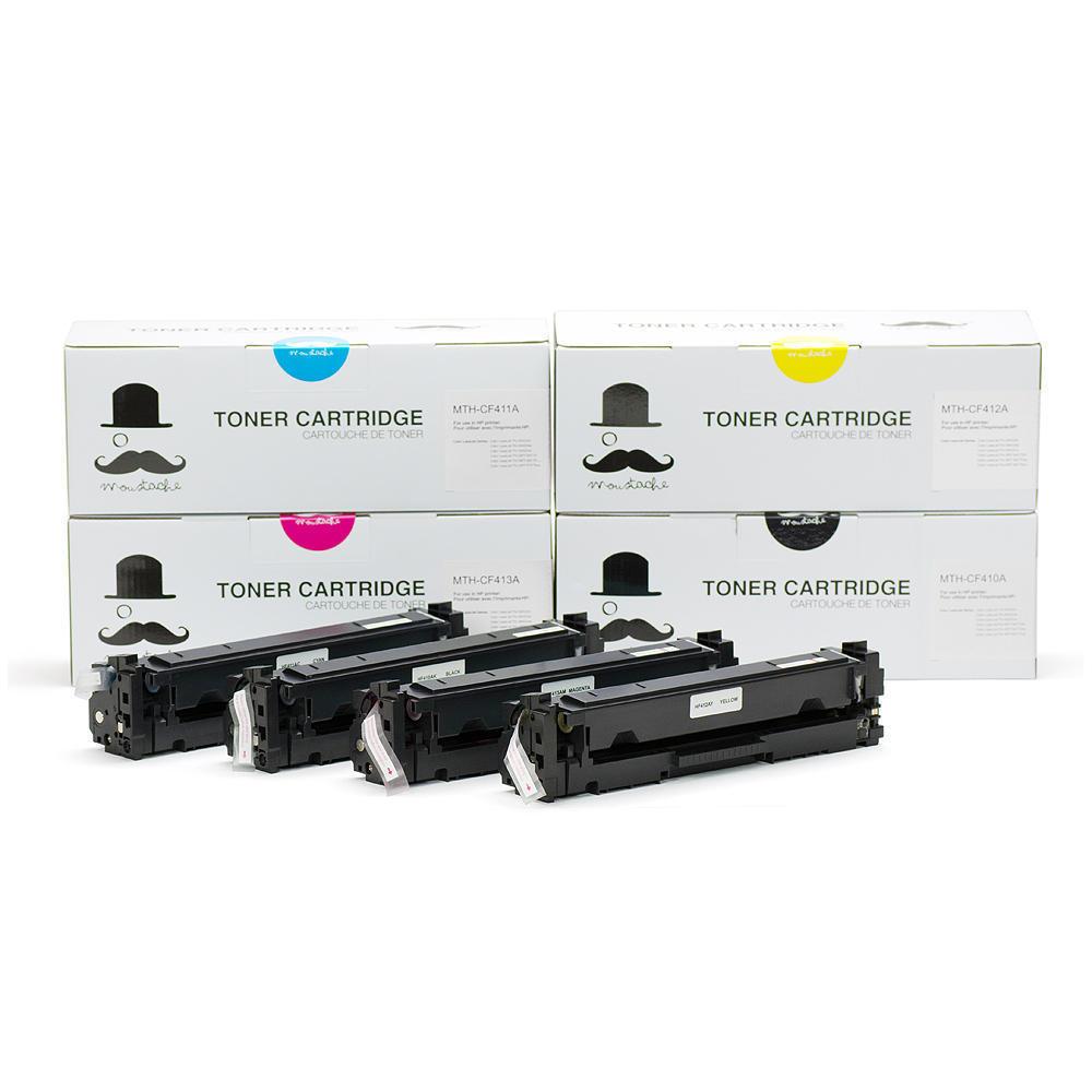 Compatible HP 410A Toner Cartridge Combo BK/C/M/Y - Moustache®