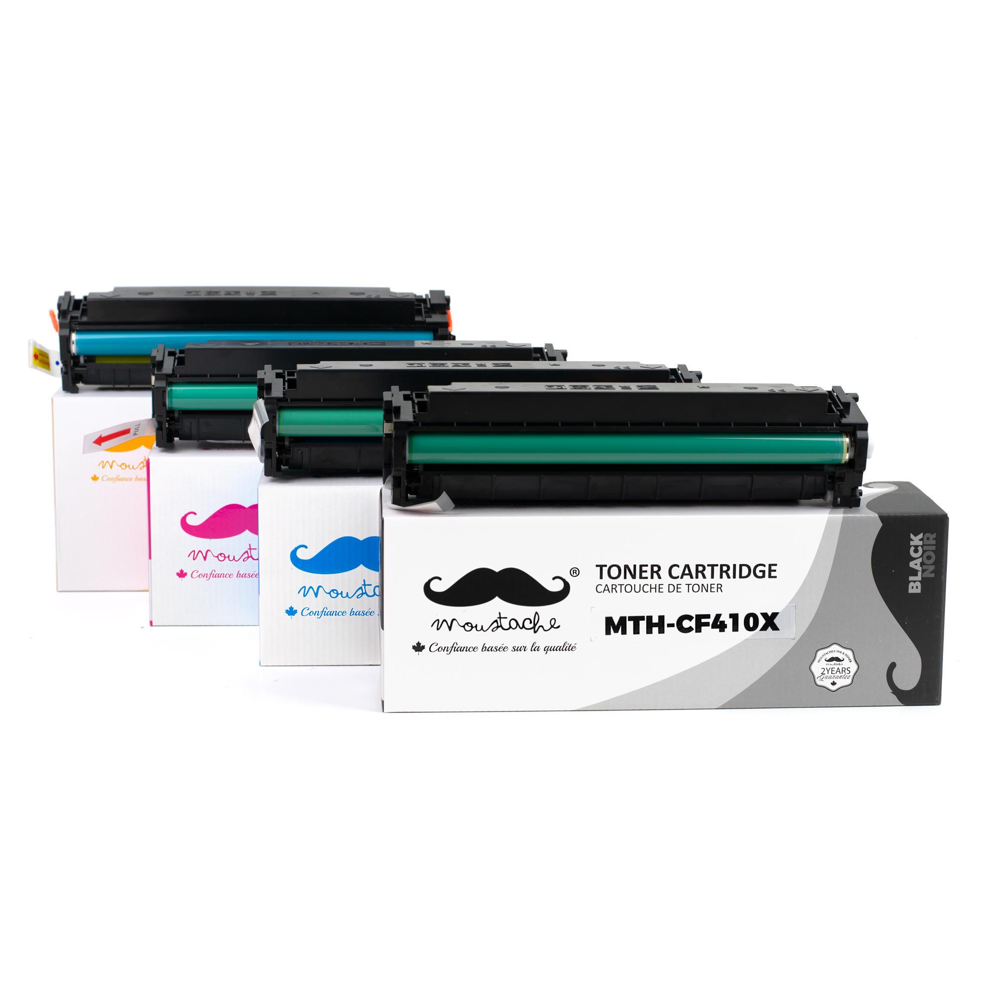 Compatible HP 410X Toner Cartridge Combo BK/C/M/Y High Yield - Moustache®