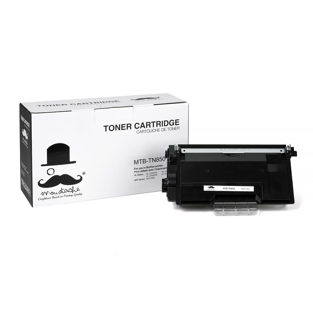 Brother TN850 Compatible Black Toner Cartridge High Yield Version of TN820 - Moustache®