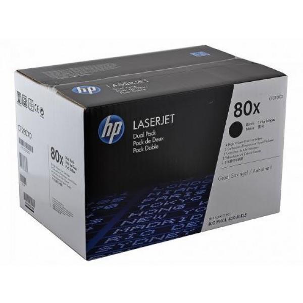HP 80X CF280XD Original Black Toner Cartridge High Yield – 2|Pack