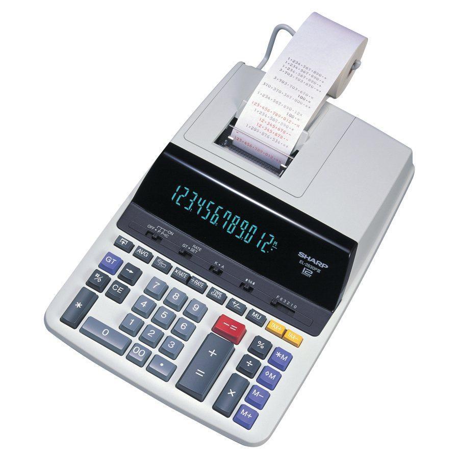 Sharp EL2630PIII 12-Digit Printing Calculator