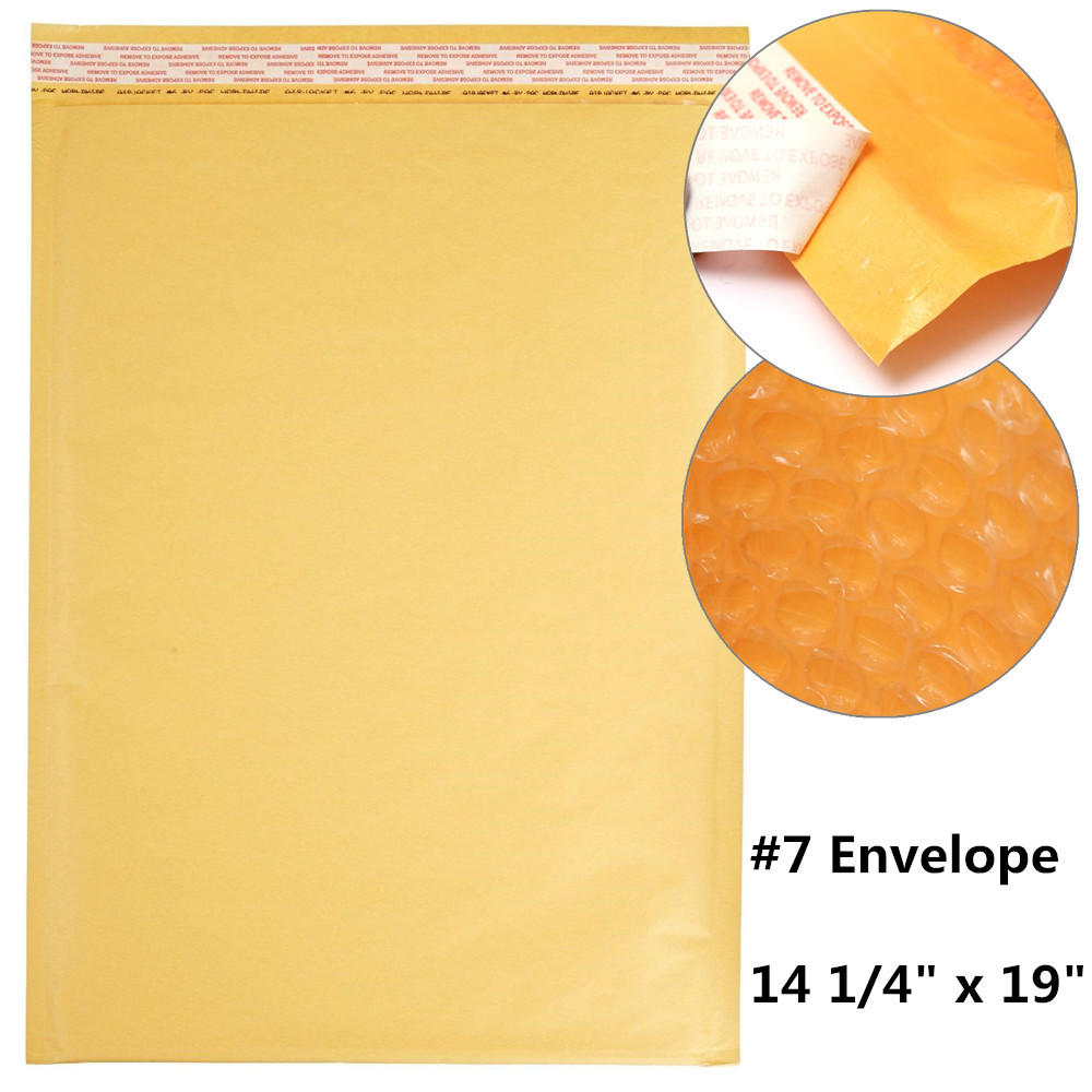 "Cheap ""#7 Self-Sealing Kraft Bubble Envelope, 14 1/4"""" x 19"""", 10/Pack"""