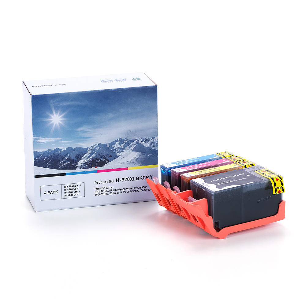 compatible hp 920xl ink cartridge combo high yield bk c m y economical box at inkjetsuperstore. Black Bedroom Furniture Sets. Home Design Ideas