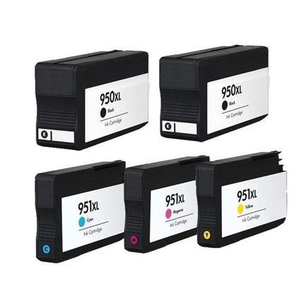 compatible hp 950xl 951xl ink cartridge combo high yield bk bk c m y economical box. Black Bedroom Furniture Sets. Home Design Ideas