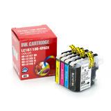 Brother LC107 LC105 Compatible Ink Cartridge Combo BK/C/M/Y - Economical Box