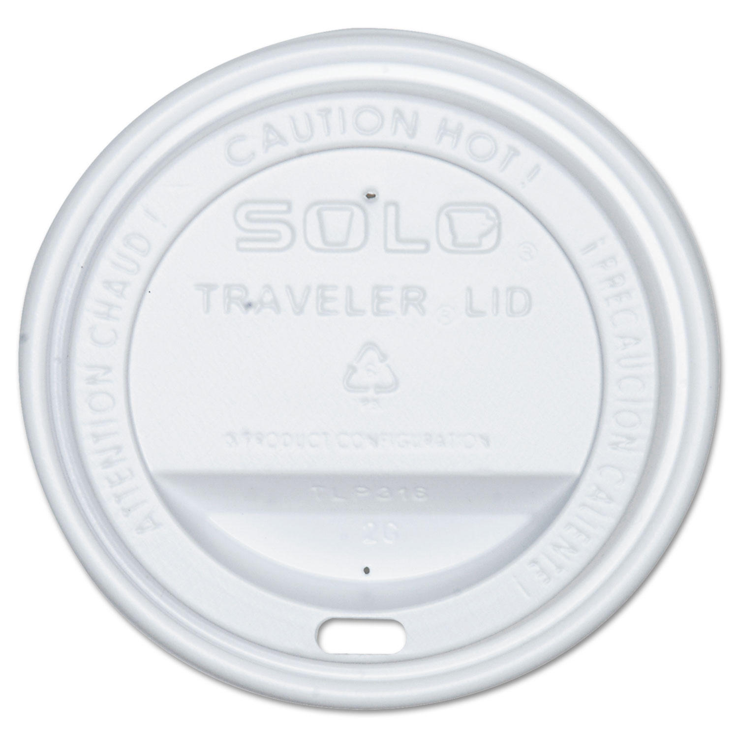 Solo White Traveler Lids for Cups - Package of 100 852-TLP316-0007