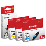 Canon PGI250XL CLI251XL Original Ink Cartridge Combo PGBK/C/M/Y