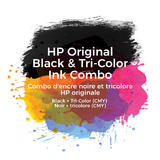 HP 62 Original Black and Tri-color Ink Cartridge Combo