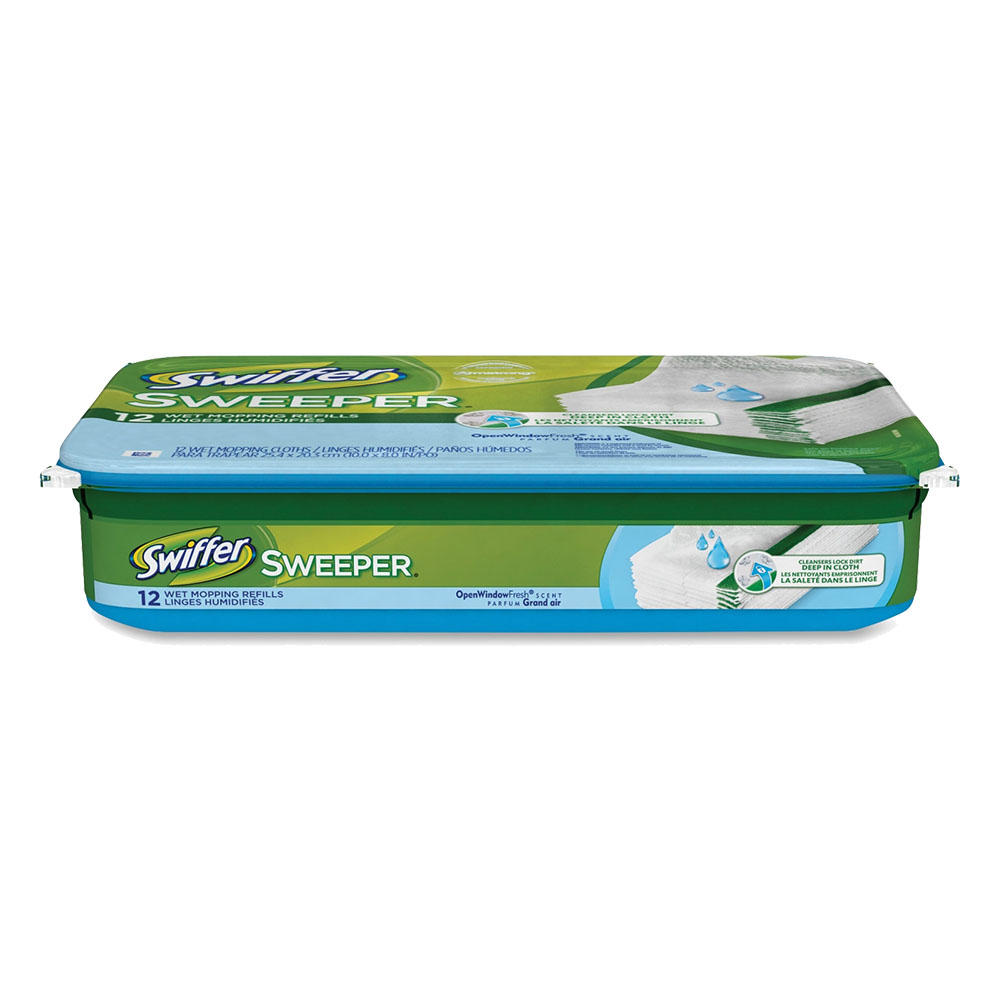 Swiffer Sweeper Wet Cloth Refill with Open Window Fresh Scent